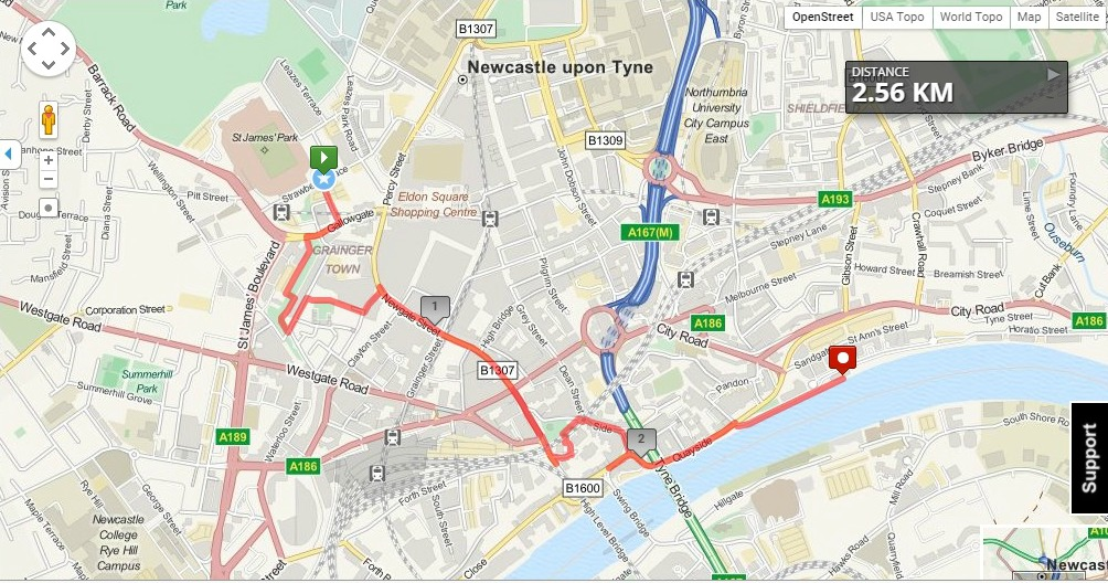 Newcastle upon Tyne Walking Tour
